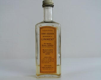"Art Deco-Van Ogden ""Wonderful Liniment"" Bottle"