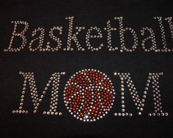 Basketball Mom Bling Shirt, Basketball Bling Shirt, Basketball Mom, Basketball Shirt, Basketball Bling, Basketball, Rhinestone Shirt,