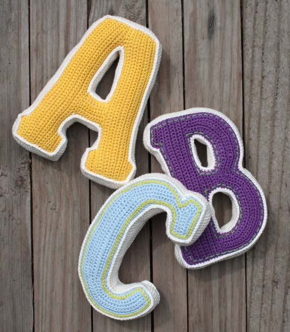 3d Letter Crochet Pattern Pdf Pattern For One Letter