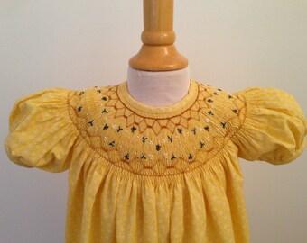 Baby's Hand Smocked Dress - Lauren (Reserved for Beth)