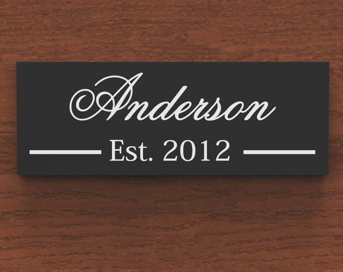 Family Name Sign, Last Name Sign, family Established Custom Wood Sign wedding gift.