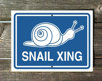 Snail Crossing Sign - Snail Xing Blue Version