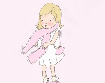 Art for Girls Room - Childrens Wall Art  Print - Nursery Decor - Art Print - Dress Up