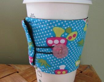 Blue Mushrooms Coffee Sleeve Cup Cozy