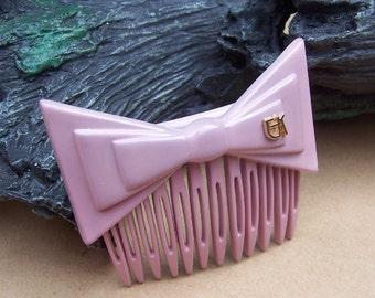 Vintage hair comb designer Emmanuelle Khanh signed hair accessory hair pin hair barrette hair slide hair jewelry hair ornament (AAK)