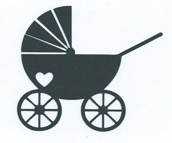 Baby stroller or pram silhouette