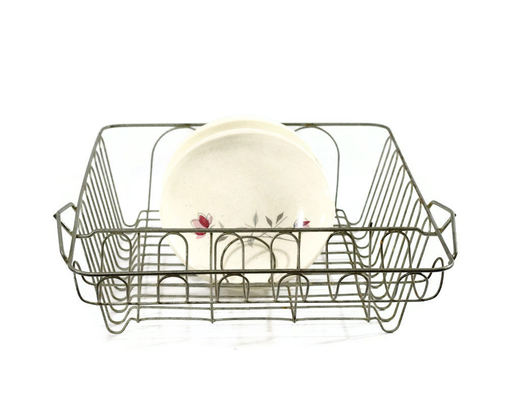 Vintage Wire Dish Rack Dish Drainer Drying Rack Plate