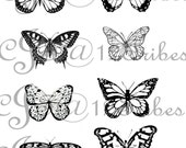 Butterfly Print Digital Download - 8 inch x 10 inch