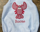 custom boutique childrens clothing girl boy  bubble romper dress applique monogrammed birthday outfit bubble