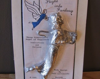 Flight into Fantasy 3 Dimensional Lead Casting Angel Stained Glass Supplies
