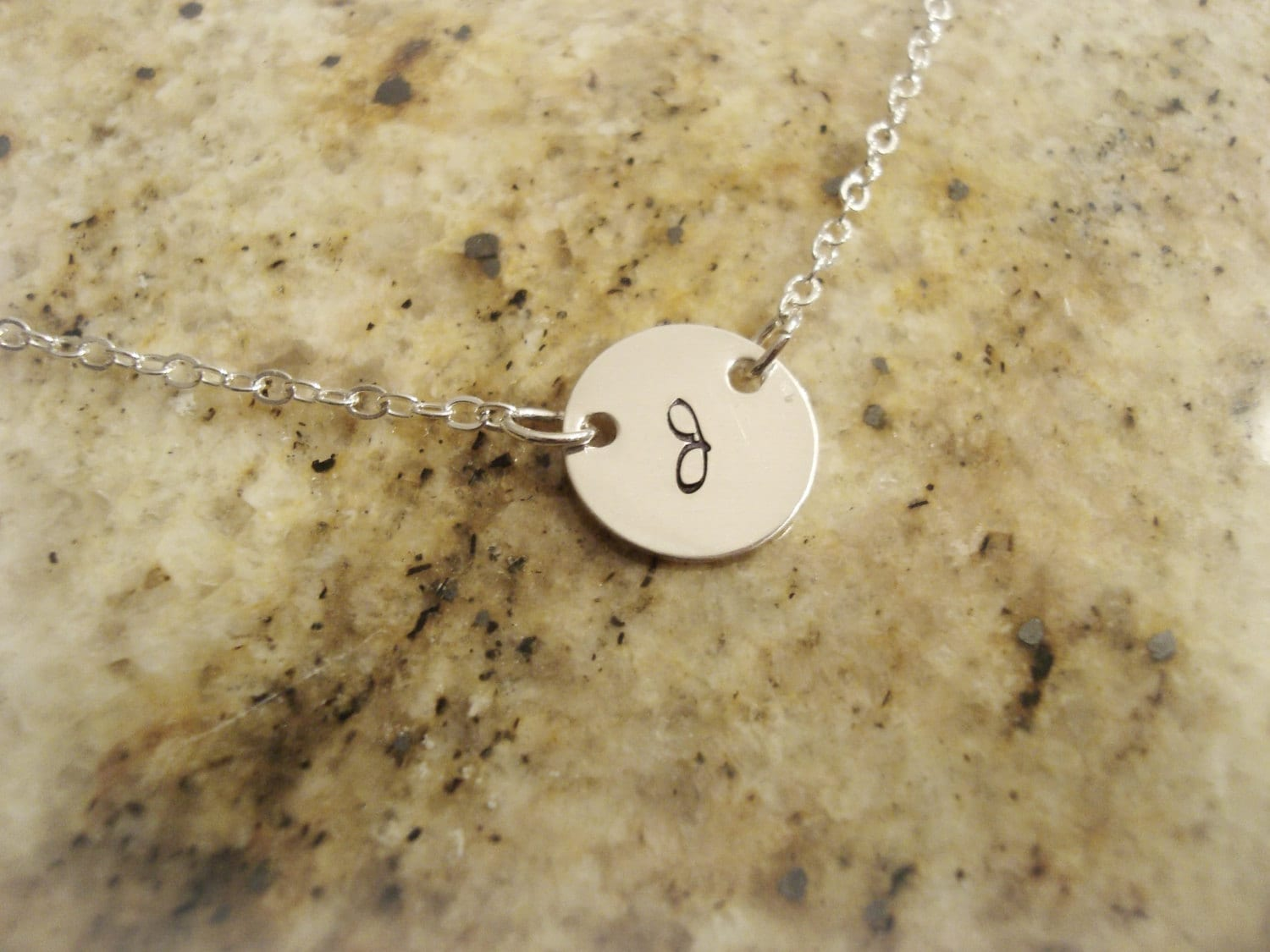 Stamped Sterling Silver Initial