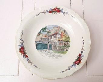 Obernai Faienceries Sarreguemines French Vintage Bowl Designed By H. Loux