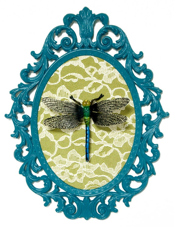 Dragonfly victorian framed object wall art decor by for Victorian wall decor