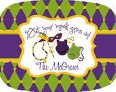 Personalized Mardis Gras Platter