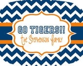Personalized Chevron Tailgate Platter-Design Your Own