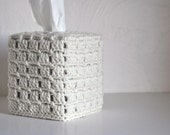 Tissue Cover Bathroom  Nursery Decoration  Home Decor Cream Off White Granny Chic