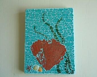 Fan Coral Mosaic Art, wall hanging