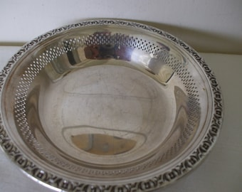 "Reed Barton Bon Bon Bowl, Pattern 1702 , 6 1/8"", Mints, Jewelry, Wedding, Party"