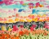 Watercolor Original. Original painting.  dreams number 29