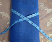 Rustic LINEN Ultramarine BLUE ecofriendly fabric sewing supplies home decor from MyGypsyCottage on Etsy