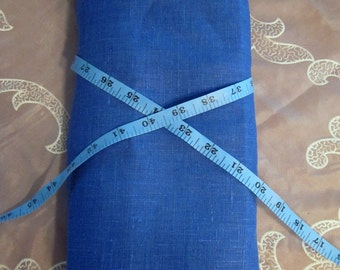 Rustic LINEN fabric Ultramarine BLUE ecofriendly sewing supplies home decor from MyGypsyCottage on Etsy