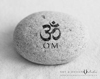 Yoga Artwork Posters, OM Yoga Print, Om Symbol, Mantra Art, Hindu Art, Meditation Space Art, Positive Affirmation Decor, Zen Photograph