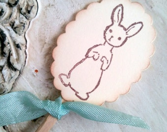 Bunny Cupcake Toppers Easter Cake Decorations Spring Party Food Picks Easter Bunny -  Baby Bunny Cake Topper - Rabbit Topper