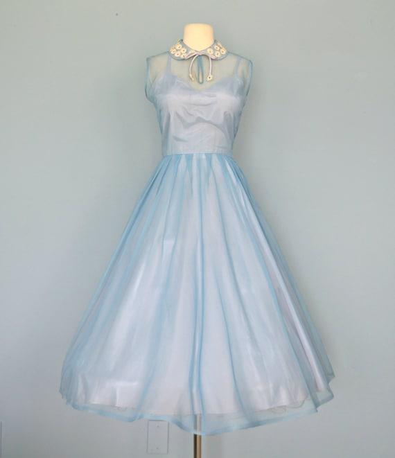 Blue dale lynn junior alternative wedding dress party dress medium