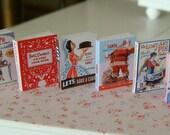 VINTAGE BAKING COOKBOOKS - Dollhouse Miniature 1/12 Scale