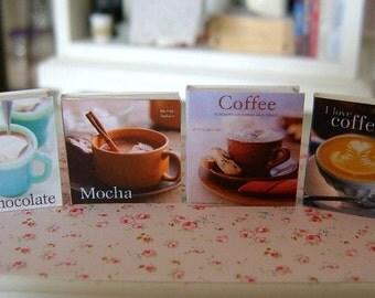 BAKING COOKBOOKS - Chocolate Mocha Coffee - Dollhouse Miniature 1:12 Scale
