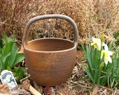 Handmade Wood Fired Clay Basket- Waiting to be filled with lovely things...