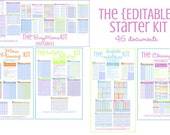 ORGANIZE - The EDITABLE Brights Starter Kit - 46 documents - Instant Download