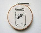 Baller - Mason Jar Embroidery Art - Funny Humor Gag Gift Canning