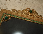 Large Victorian c1900 Rhinestone, Jeweled Picture Frame