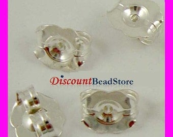 6mm x 5mm large sterling silver earring post butterfly backing clutch back E53