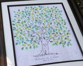 Wedding Tree Custom Guest Book Gift Hand drawn Wedding Guestbook Thumbprint Tree Guest book alternative sketched wedding tree Rustic Wedding