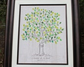 Guest book wedding tree poster thumbprint wedding tree fingerprint tree poster wedding sign in poster print personalized guestbook rustic