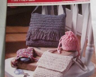 Crochet Classy Cord Purses pattern booklet