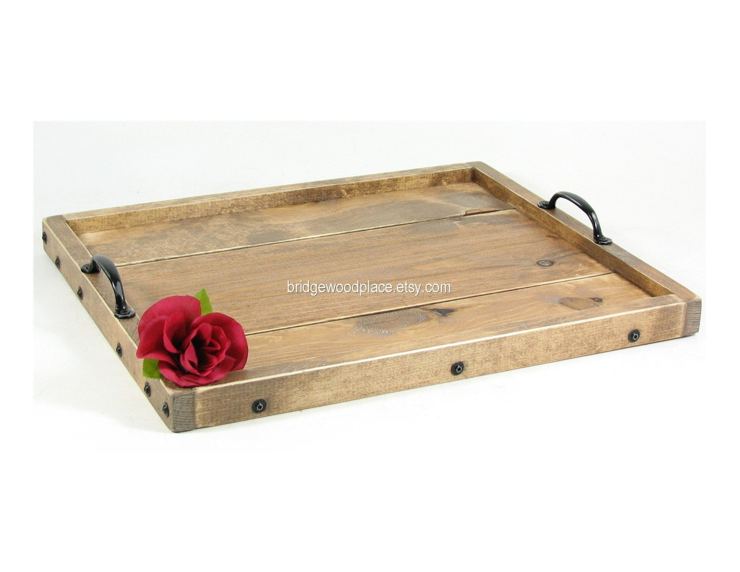Ottoman tray wooden coffee table tray by bridgewoodplace on etsy Ottoman coffee table trays