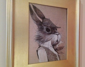 Sherlock Rabbit art print