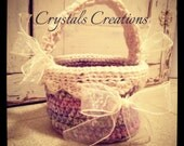 Multi Pastel Crochet Easter Basket