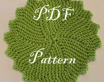 Knitted Round Wash/Dish Cloth Pattern | PDF Pattern | Downloadable | Printable Pattern |