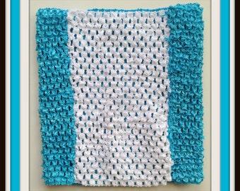 "8"" Alice in Wonderland Inspired Custom Crochet Tutu Tube Top"