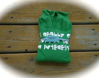 Recycled, upcycled, reusable green t-shirt Bag for market, beach or travel
