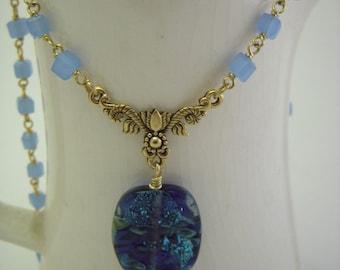 Lampwork glass bead pendant