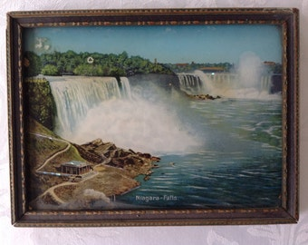 Framed vintage Niagara Falls picture