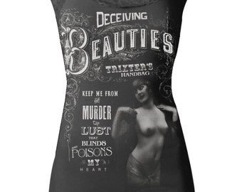 Deceiving Beauties Black Lace Cami