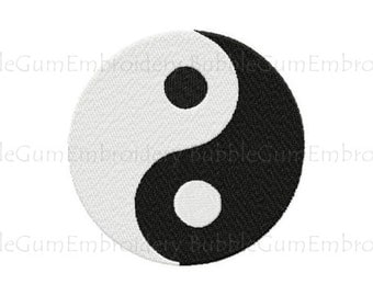 Yin Yang Embroidery Design Instant Download