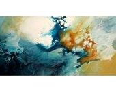 """Modern Abstract Giclee Print on Fine Art Paper of Original Painting """"Appearance"""" by R Schoeffel. 20x10"""