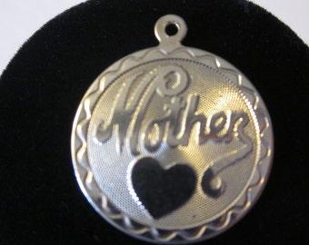 Vintage Sterling Silver MOTHER Charm/Pendant